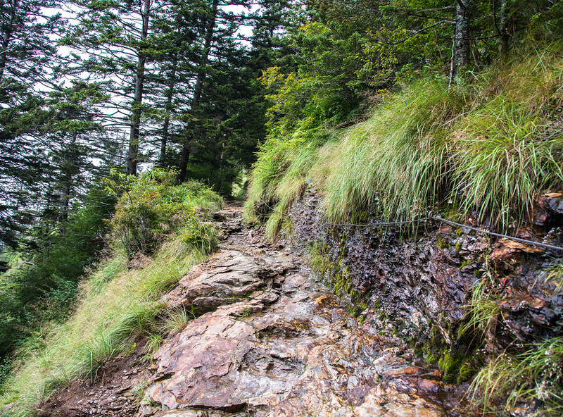 This rocky terrain made for slower going for us.