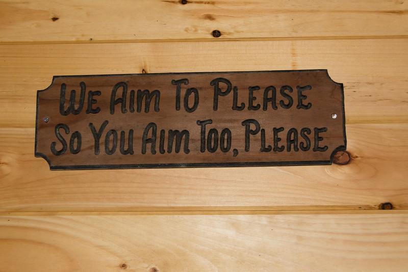 Sign in the men's restroom