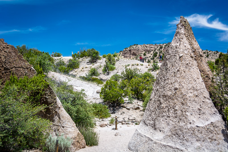There are diffent paths through the tent rocks that allow you to get up close and personal.  There you see formations that look almost like concrete and will clearly be around for thousands of years more.
