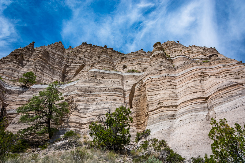 Another view of the tent rocks forming on the hillside