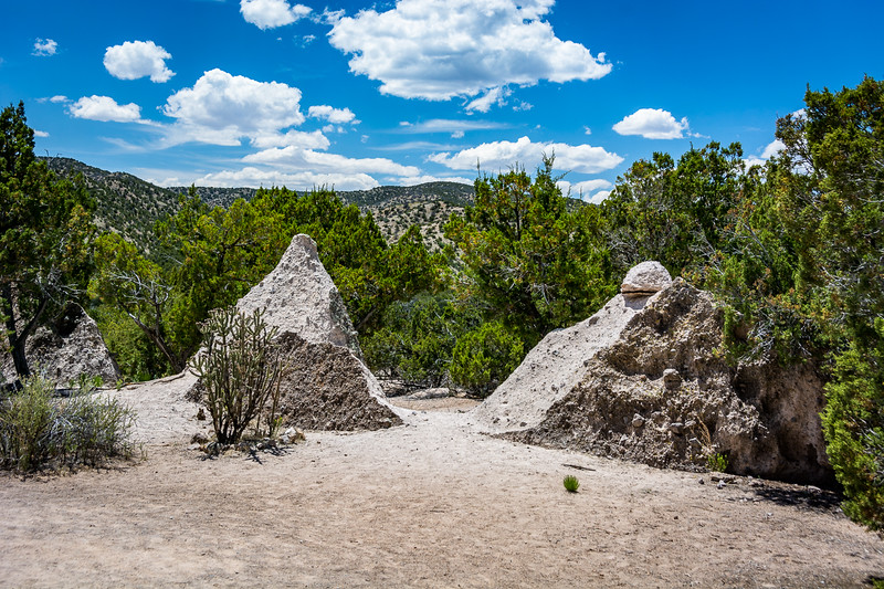 The trails give you an opportunity to walk among some of the rocks.