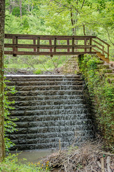 Dam below the pond
