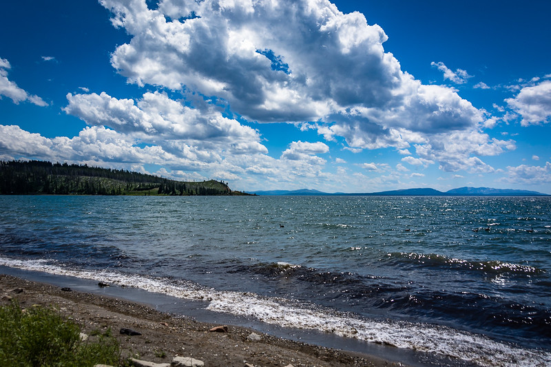 Yellowstone Lake is HUGE.