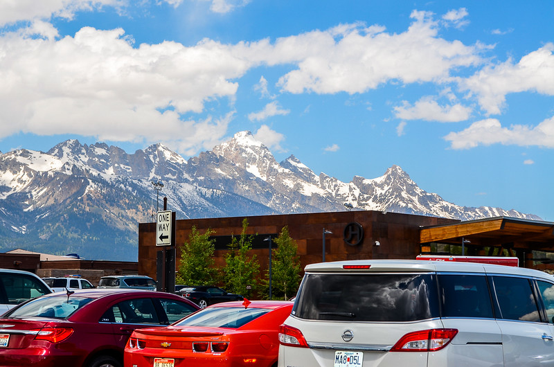 When you get off the plane in Jackson Hole, this is your view.