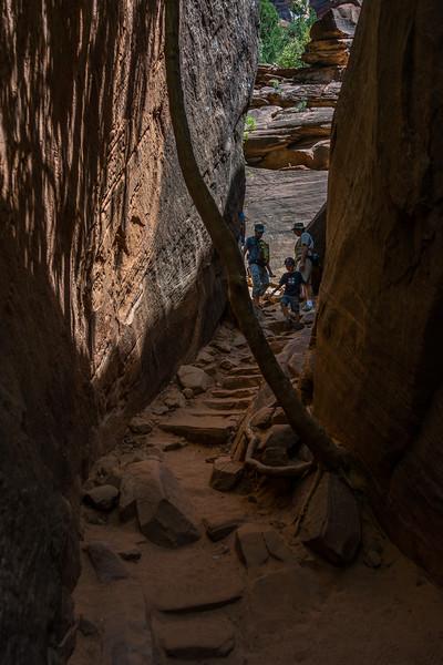 Narrow path through the cliff
