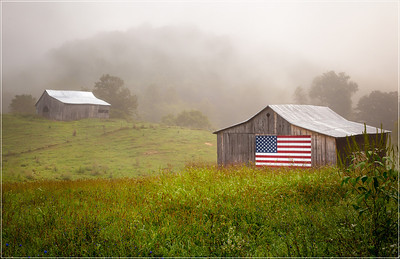 Patriotic Barn Back roads of SW Virginia
