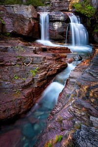 Virginia Creek  One of the many small waterfalls along Virginia Creek.