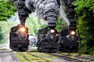 The Race Shay Locomotives at Cass Railroad State Park