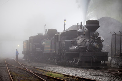 Foggy Morning at Cass Railroad State Park