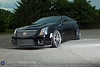 """A 2011 Black CTS-V Coupe, lowered with D3 springs, and sporting your 20"""" VVS-CV1 black/machined rim owned by Jeff Spridgeon, photographed for Vossen Wheels Friday evening June 17, 2011. (© James D. DeCamp 