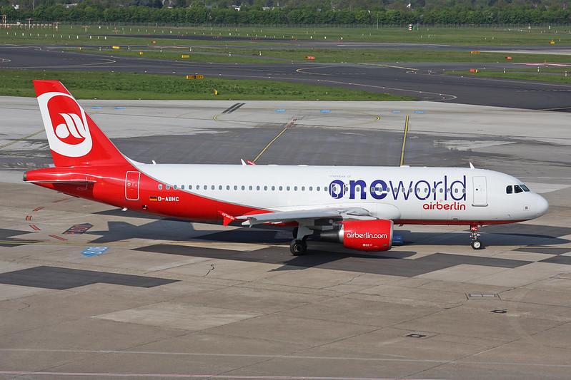 "D-ABHC Airbus A320-214 c/n 3594 Dusseldorf/EDDL/DUS 20-04-17 ""Oneworld"""