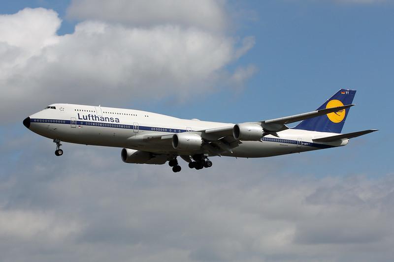 """D-ABYT Boeing 747-830 c/n 37844 Frankfurt/EDDF/FRA 03-06-15 """"Retro"""""""