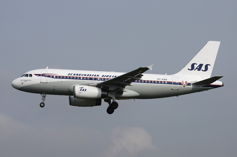 """OY-KBO Airbus A319-131 c/n 2850 Brussels/EBBR/BRU 25-03-14 """"Retro"""""""