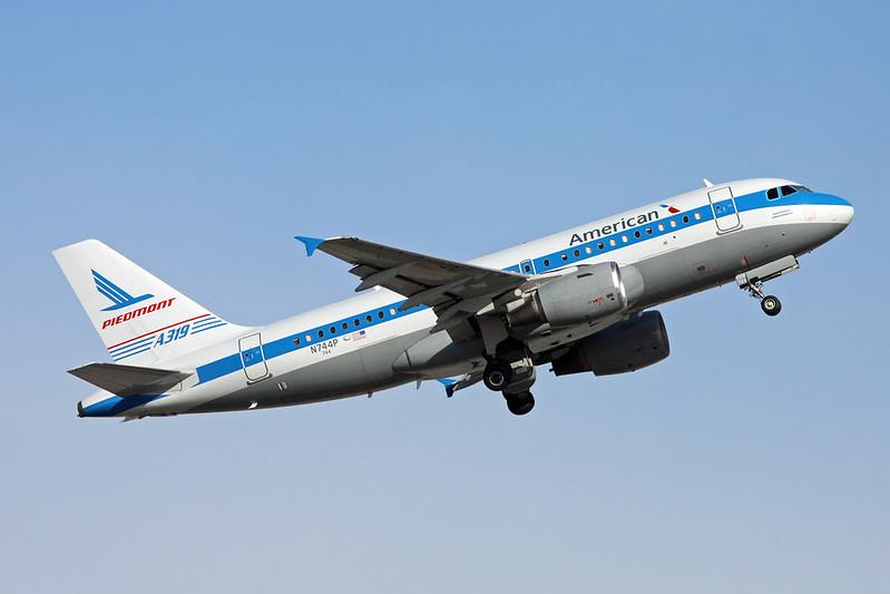 "N744P Airbus A319-112 c/n 1287 Phoenix-Sky Harbor/KPHX/PHX 16-11-16 ""Piedmont"""