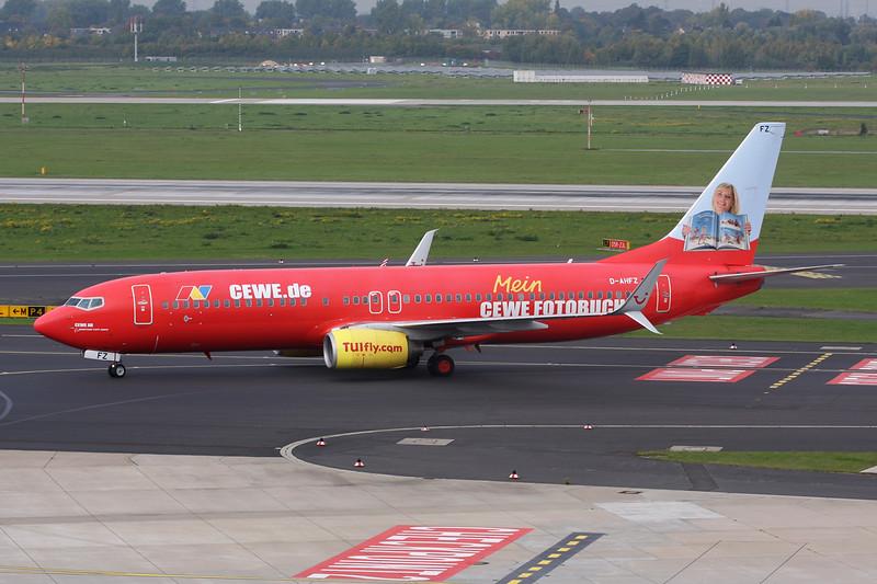 """D-AHFZ Bing 737-8K5 c/n 30883 Dussledorf/EDDL/DUS 18-10-15 """"CEWE.de"""""""