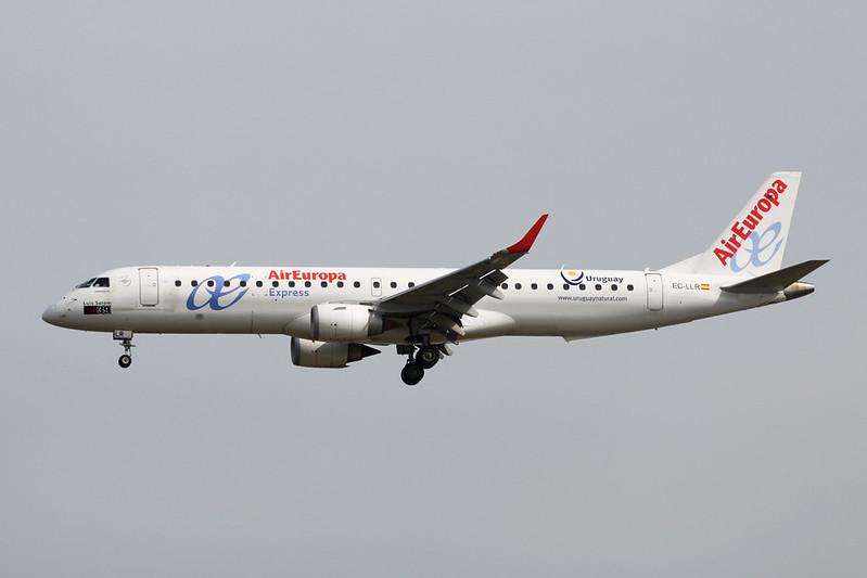 """EC-LLR Embraer Emb-195-200LR c/n 19000452 Frankfurt/EDDF/FRA 05-06-17 """"Uruguay"""""""