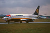 "EI-CKQ Boeing 737-2K2 c/n 22906 Prestwick/EGPK/PIK 07-01-96 ""Santa face"" (35mm slide)"