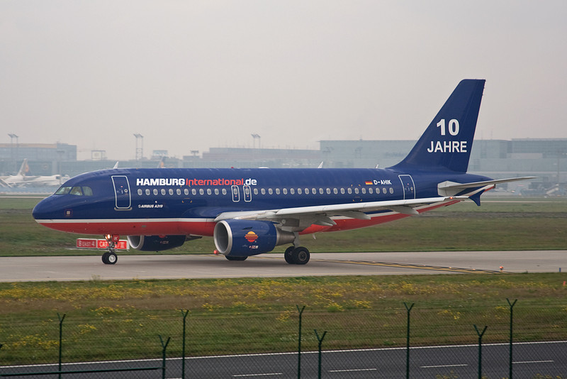 "D-AHIK Airbus A319-111 ""Hamburg International"" c/n 3560 Frankfurt/EDDF/FRA 14-10-08 ""10 Jahre"""