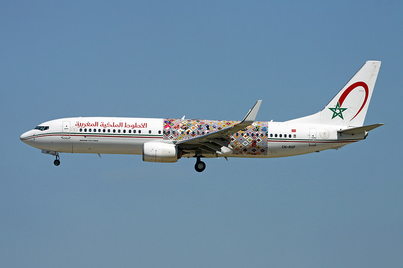"CN-RGF Boeing 737-86N c/n 36826 Paris-Orly/LFPO/ORY 10-06-17 ""Wings of African Art"""