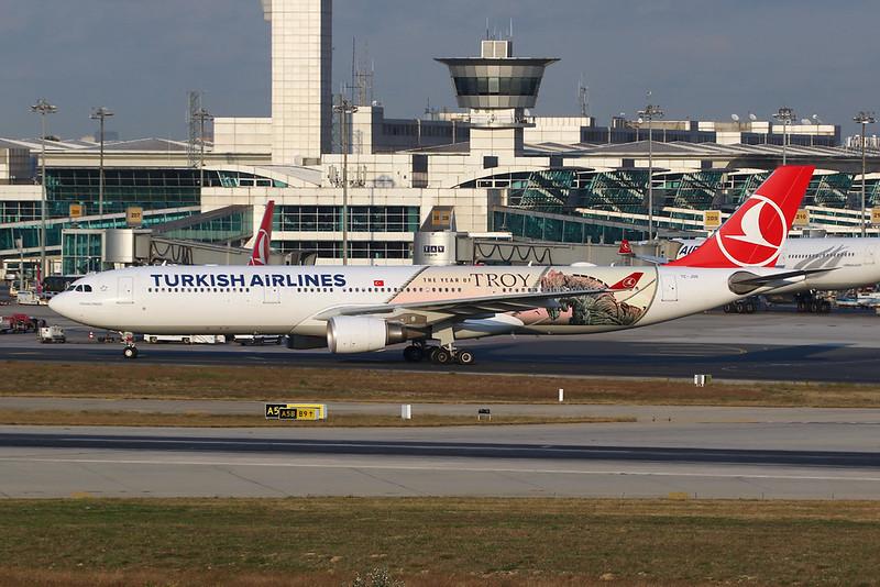 "TC-JOG Airbus A330-303 c/n 1620 Istanbul - Ataturk/LTBA/IST 09-10-18 ""The Year of Troy"""