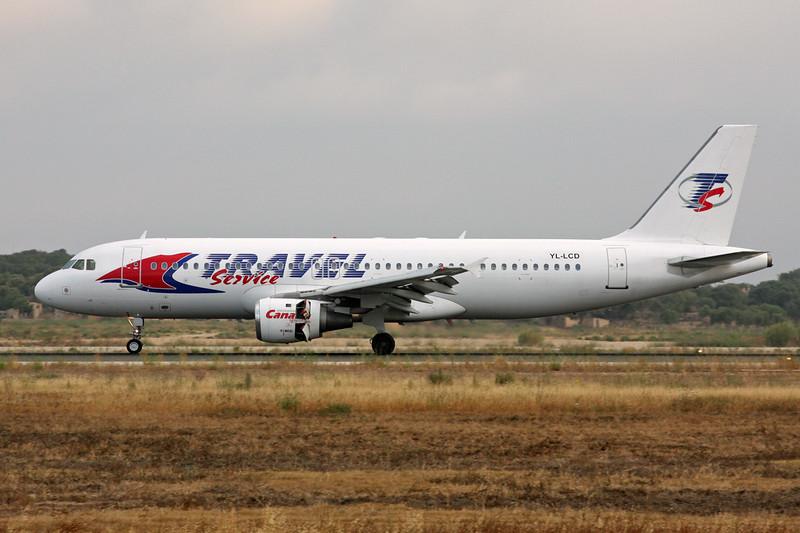 "YL-LCD Airbus A320-211 ""SmartLynx"" c/n 0359 Palma/LEPA/PMI 15-06-16 ""Travel Service"""
