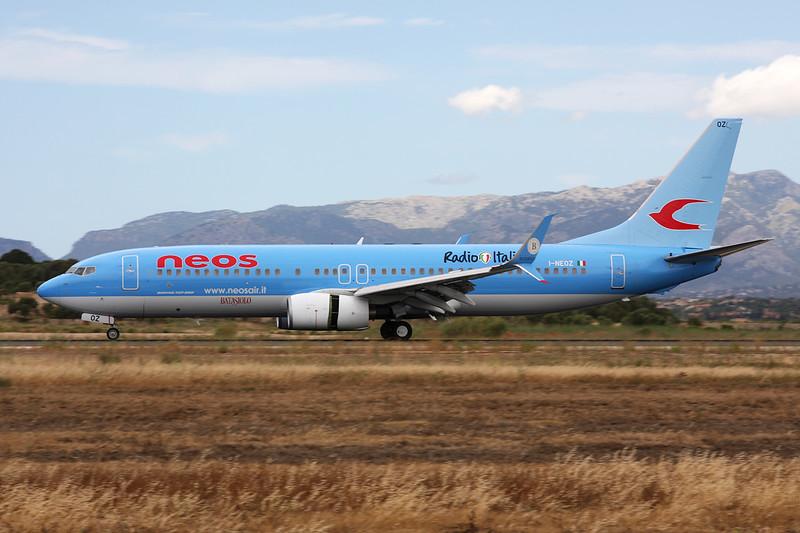 "I-NEOZ Boeing 737-86N ""NEOS"" c/n 34257 Palma/LEPA/PMI 16-06-16 ""Radio Italia"""
