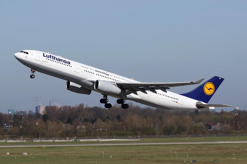 "D-AIKB Airbus A330-343X c/n 576 Dusseldorf/EDDL/DUS 06-04-18 ""Shark skin technology for green efficiency"""