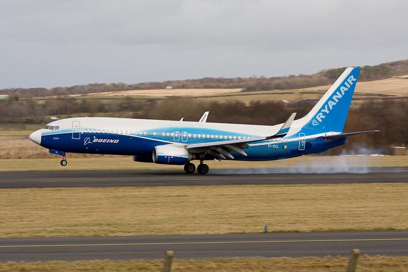 "EI-DCL Boeing 737-8AS c/n 33806 Prestwick/EGPK/PIK 01-02-10 ""Dreamliner"""
