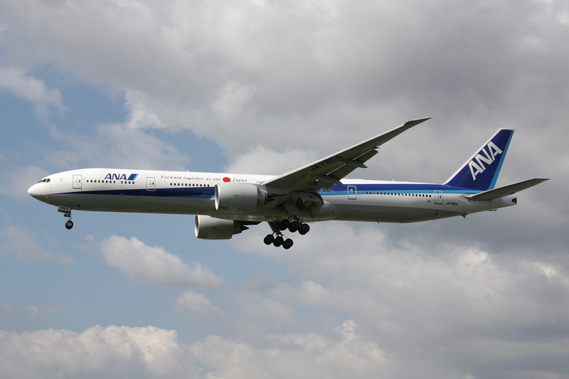 "JA786A Boeing 777-381ER c/n 37948 Heathrow/EGLL/LHR 05-07-12 ""Forward together as one Japan"""
