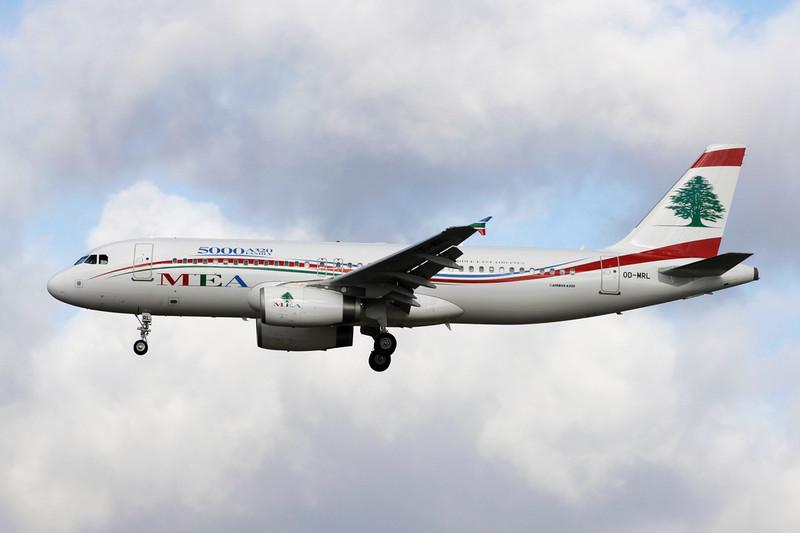 """OD-MRL Airbus A320-232 c/n 5000 Frankfurt/EDDF/FRA 19-02-12 """"5000th A320"""""""