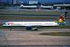 "G-BIKC Boeing 757-236 c/n 22174 Heathrow/EGLL/LHR 15-09-97 ""Emily Masanabo - South Africa"" (35mm slide)"