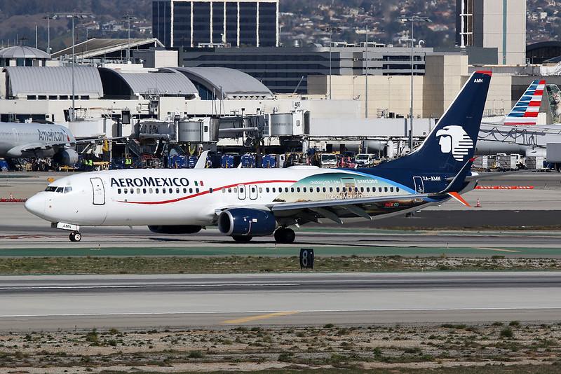 "XA-AMN Boeing 737-852 c/n 39945 Los Angeles/KLAX/LAX 26-01-18 ""Galaxy S8"""