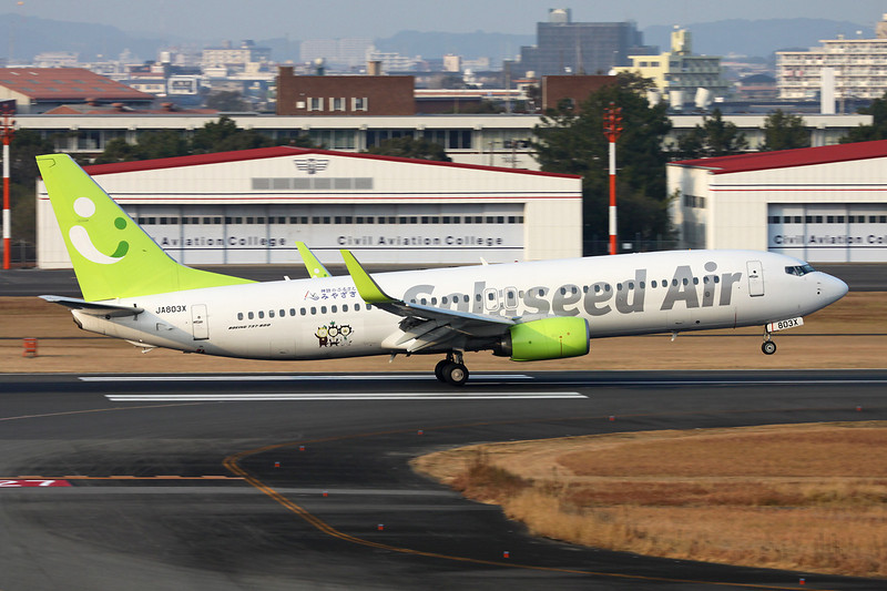 JA803X Boeing 737-86N c/n 39395 Miyazaki/RJFM/KMI 13-01-14