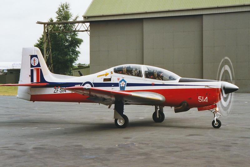 "ZF514 (514) Short Emb-312 T.1 Tucano ""Royal Air Force"" c/n T129 Cosford/EGWC 06-07-94 (10x15cm print)"