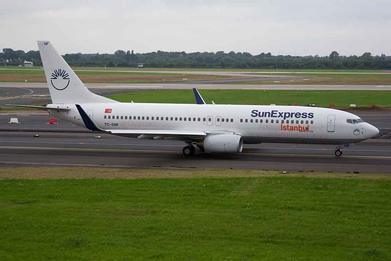 "TC-SNF Boeing 737-8HC c/n 36529 Dusseldorf/EDDL/DUS 03-08-08 ""Istanbul"""