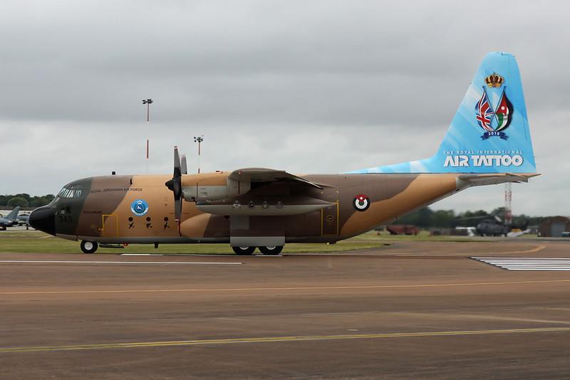 "345 Lockheed C-130H Hercules ""Royal Jordanian Air Force"" c/n 4813 Fairford/EGVA/FFD 22-07-19"