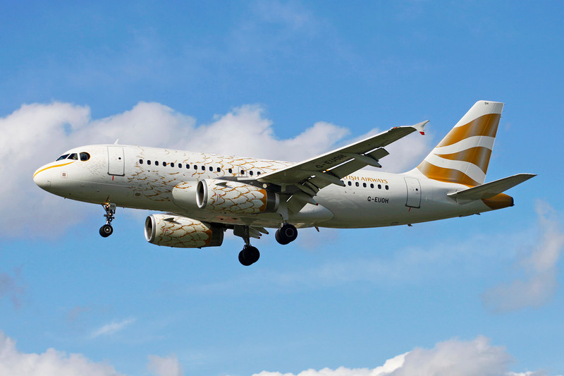 "G-EUOH Airbus A319-131 c/n <a href=""https://www.ctaeropics.com/search#q=c/n%201604"">1604 </a> Heathrow/EGLL/LHR 11-05-12 ""Gold Dove Olympics 2012"""