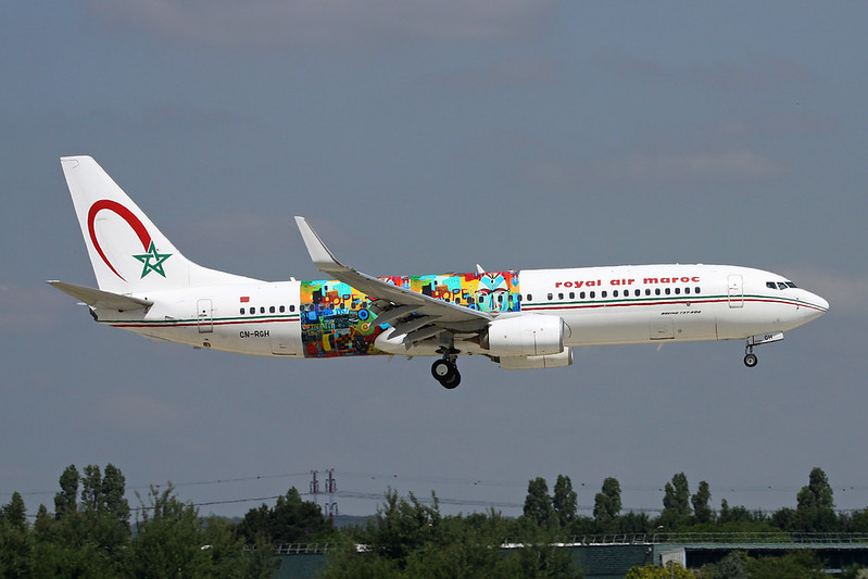 "CN-RGH Boeing 737-86N c/n 36828 Paris-Orly/LFPO/ORY 17-06-17 ""Wings of African Art"""