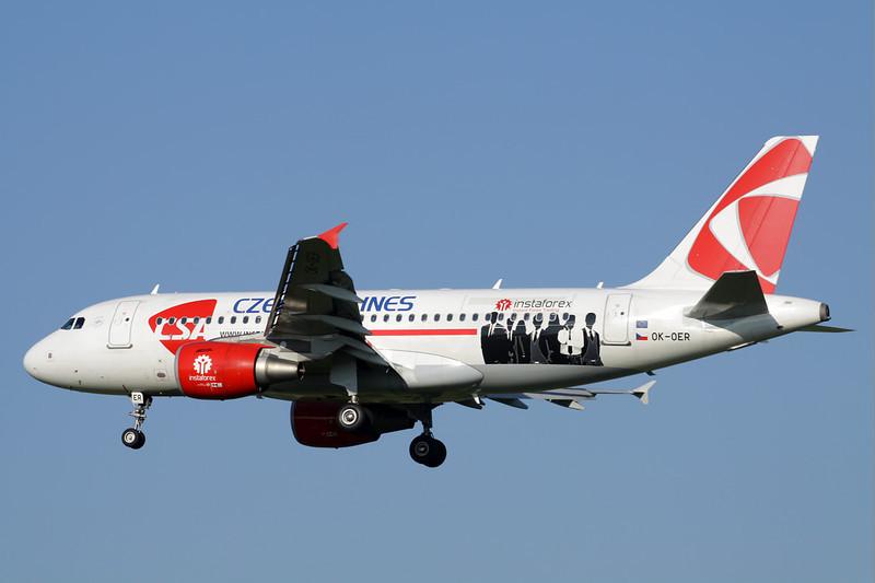 "OK-OER Airbus A319-112 c/n 3892 Brussels/EBBR/BRU 07-07-13 ""Instaforex"""