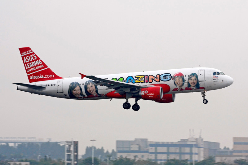 "9M-AFP Airbus A320-216 ""Air Asia"" c/n 3000 Guangzhou/ZGGG/CAN 14-11-12 ""Amazing"""