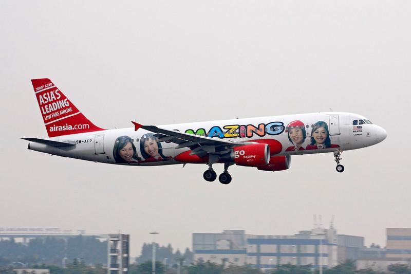 "9M-AFP Airbus A320-216 ""Air Asia"" c/n 3000 Guangzhou/ZGGG/CAN 14-11-12 ""Amazing"""