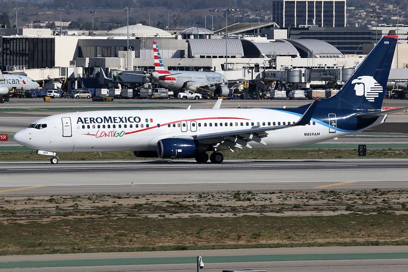 """N859AM Boeing 737-8Q8 c/n 32796 Los Angeles/KLAX/LAX 26-01-18 """"Contigo"""""""