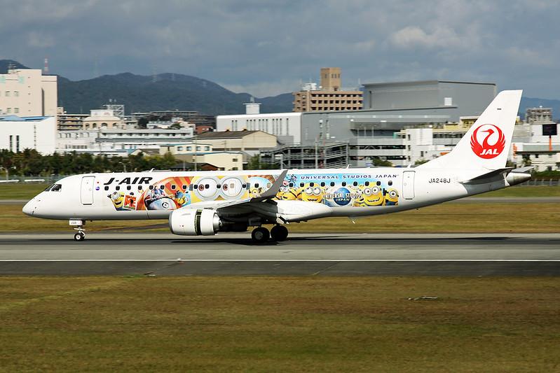 "JA248J Embraer Emb-190-100STD c/n 19000731 Osaka-Itami/RJOO/ITM 25-10-17 ""Universal Studios Japan"""