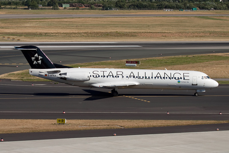 "D-AFKA Fokker 100 ""Contact Air"" c/n 11517 Dusseldorf/EDDL/DUS 16-07-10 ""Star Alliance"""