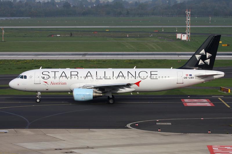 "OE-LBX Airbus A320-214 c/n 1735 Dussledorf/EDDL/DUS 18-10-15 ""Star Alliance"""