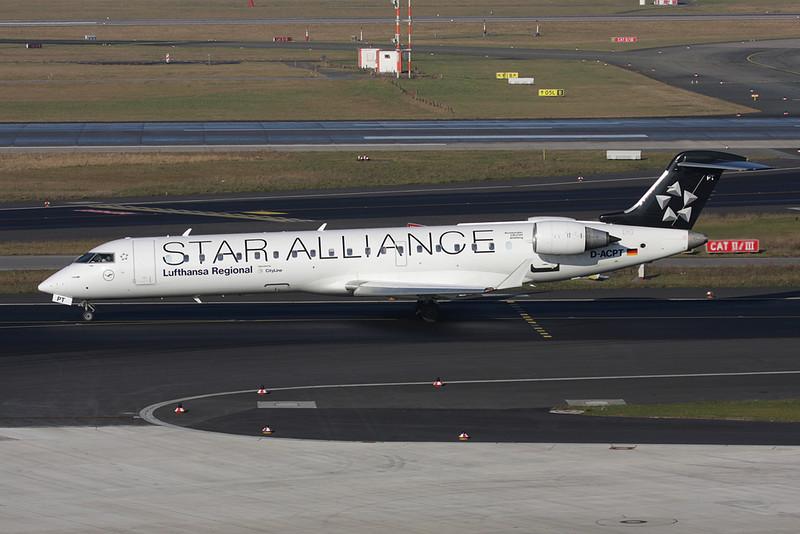 D-ACPT Canadair CRJ-701ER Regionaljet c/n 10103 Dusseldorf/EDDL/DUS 30-01-09