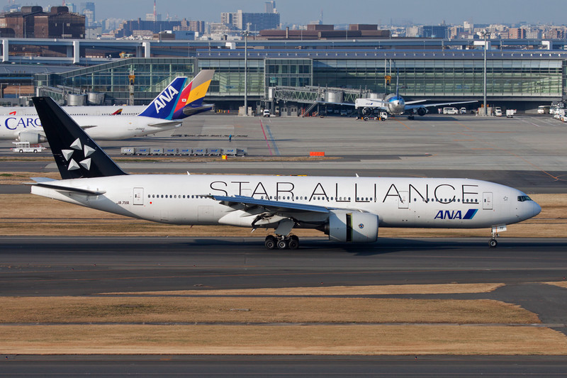 "JA711A Boeing 777-281 c/n 33406 Tokyo-Haneda/RJTT/HND 26-02-11 ""Star Alliance"""