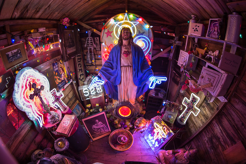 'God's Own Junkyard' - wide-angle,
