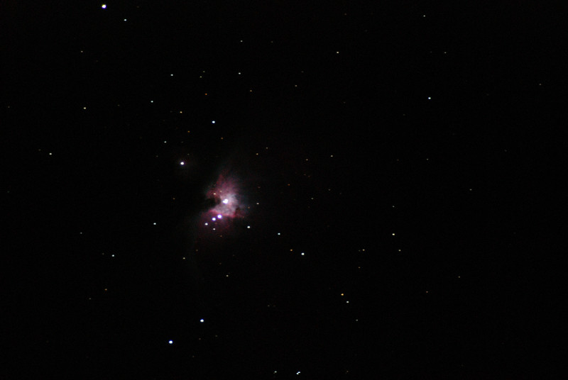 The Orion Nebula taken with a 1000mm 4-inch refractor telescope.