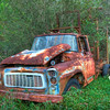 Rusted truck near Dublin, Georgia
